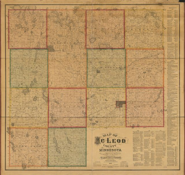 Map of McLeod County, Minnesota : drawn from actual surveys and the county records.