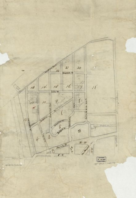 [Map of Meridian Hill subdivision, Washington, D.C., showing selected residential lots].