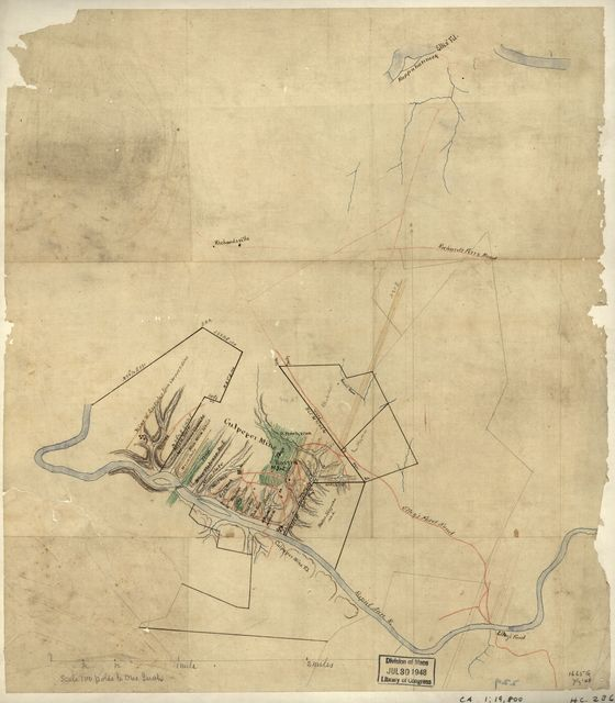 [Map of mineral lands in Culpepper County, Virginia, on the Rapidan River].