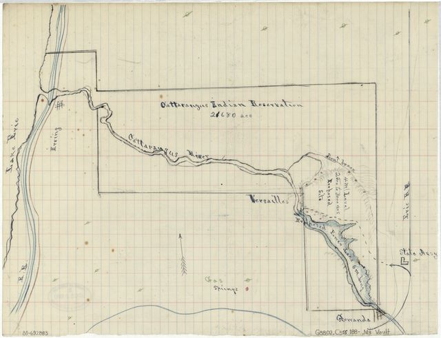[Map of the Cattaraugus Indian Reservation, New York].