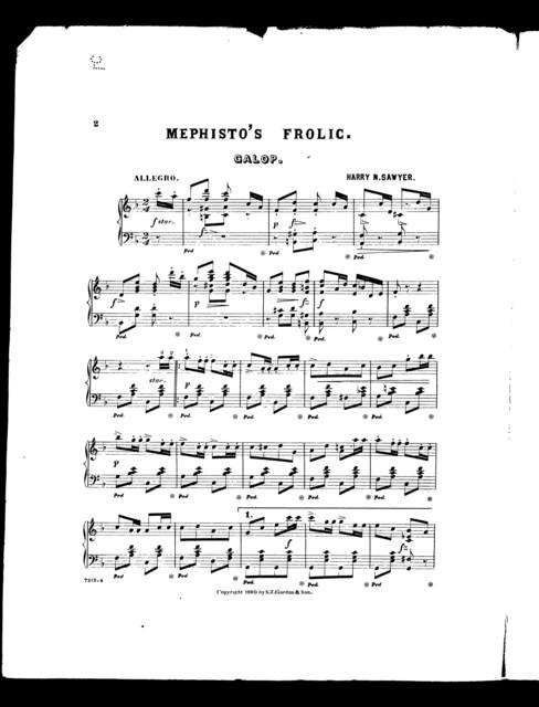 Mephisto's frolic