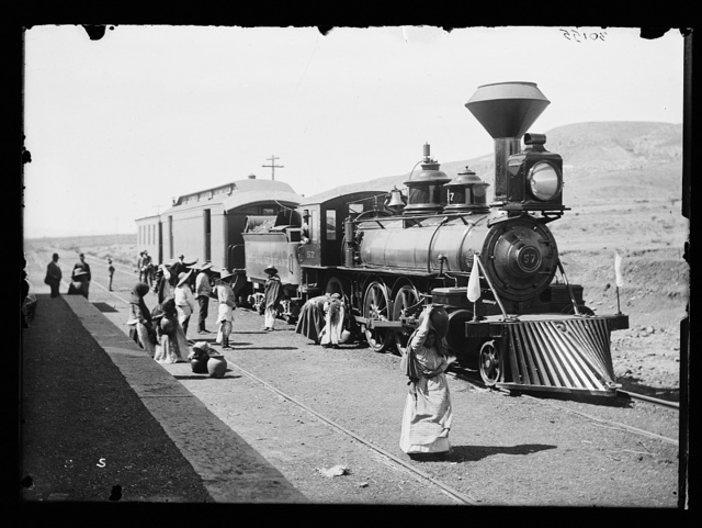 [Mexican Central Railway train at station, Mexico]
