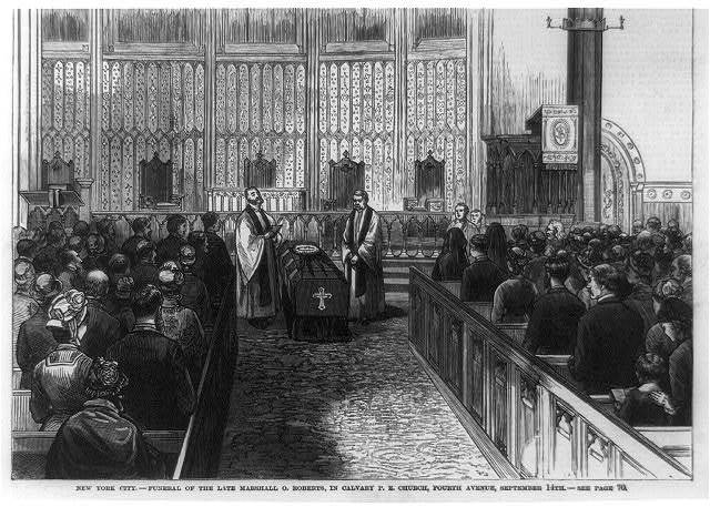 New York City - funeral of the late Marshall O. Roberts, in Calvary P.E. Church, Fourth Avenue, September 14th