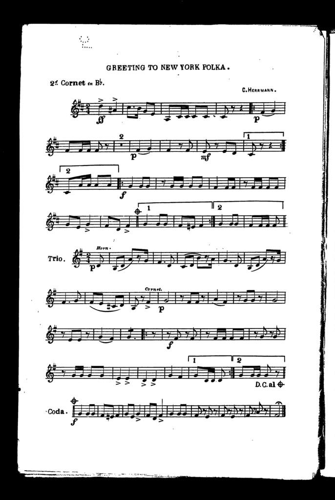 Obelisk polka [and] Greeting to New York polka