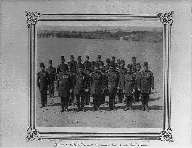 [Officers of the First Albanian Regiment of the Imperial Guard] / Abdullah Frères, Phot., Constantinople.