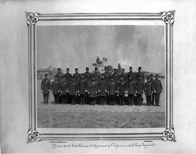 [Officers of the First Battalion of the First Infantry Regiment of the Imperial Guard] / Abdullah Frères, Phot., Constantinople.