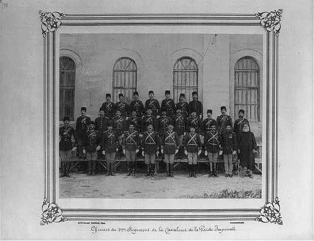 [Officers of the Second Cavalry Regiment of the Imperial Guard] / Abdullah Frères, Phot., Constantinople.