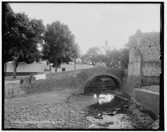 Old bridge on the Cherubusco [i.e., Churubusco River]