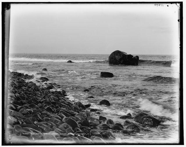 Old Man's Face, Point Judith, Narragansett, R.I.