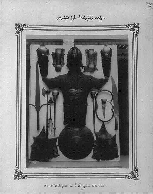 [Ottoman weapons, chain mail and other armor]