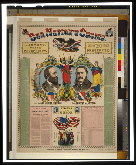 Our nation's choice--Gen. James Abram Garfield, Republican candidate for President, Gen. Chester A. Arthur, Republican Candidate for Vice-President