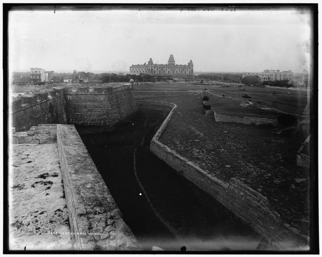 [Panorama from Fort Marion, showing Fort, bay and city]