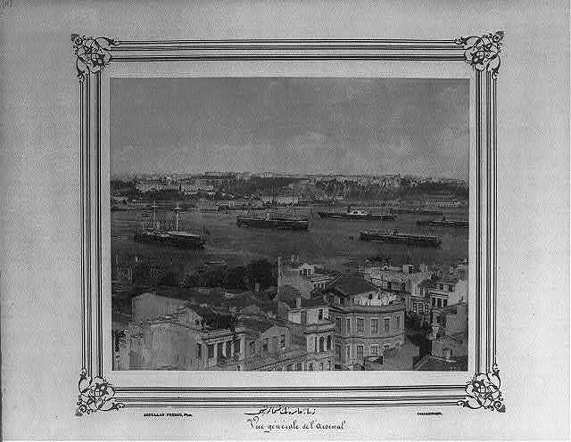 [Partial view of the Imperial Naval Arsenal from the Golden Horn] / Abdullah Frères, Phot., Constantinople.
