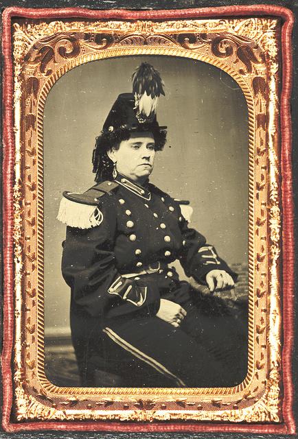 [Pauline Cushman in military-style costume]