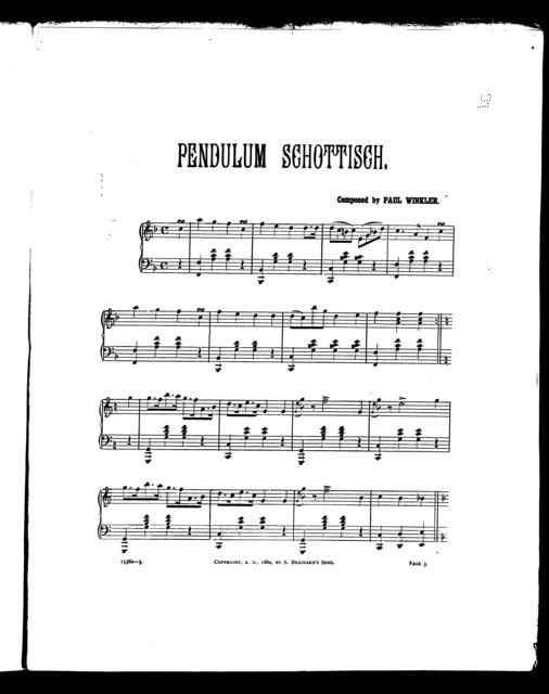 Pendulum schottisch