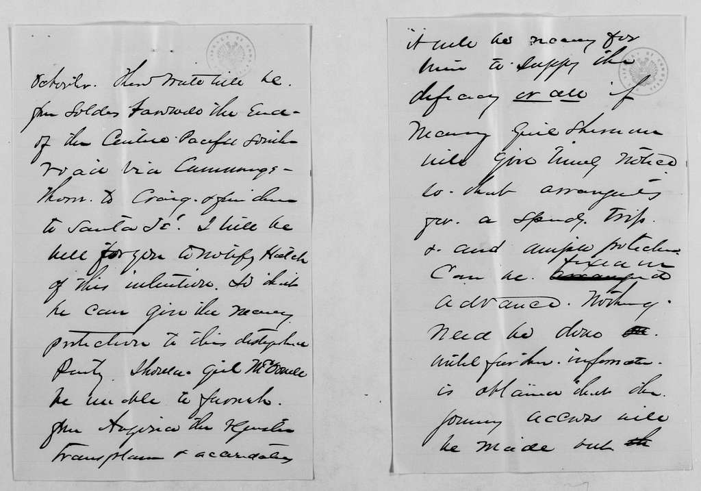 Philip Henry Sheridan Papers: General Correspondence, 1853-1888; 1880; Aug