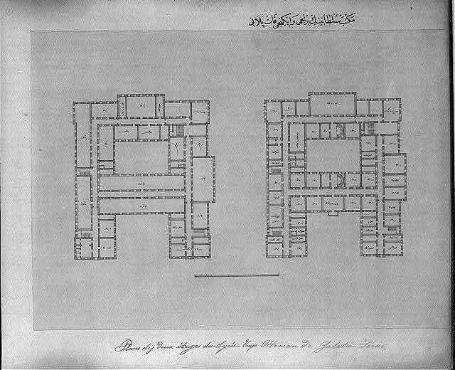 [Plan of the first and second level of the Mekteb-i Sultani]