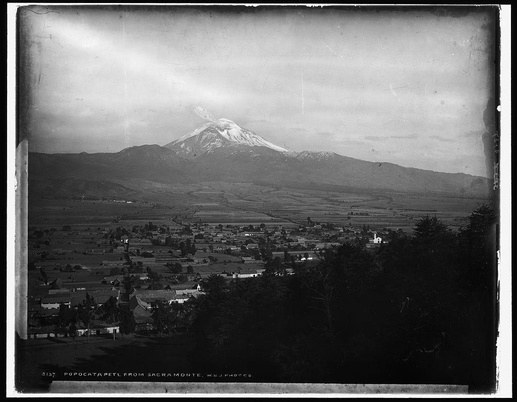 Popocatapetl [sic] from Sacramonte [i.e. Sacro Monte], Amecameca, Mexico