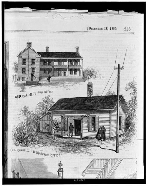 [Post office and telegraphic office of James A. Garfield, at Mentor, Ohio]