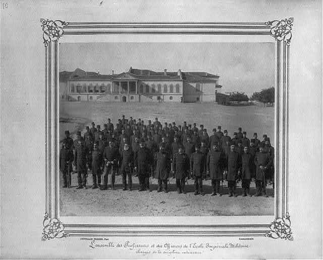 [Professors and officers at the Imperial Military Academy, in charge of internal discipline] / Abdullah Frères, Phot., Constantinople.
