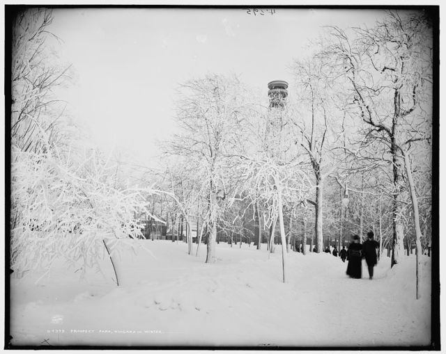 Prospect Park, Niagara, in winter