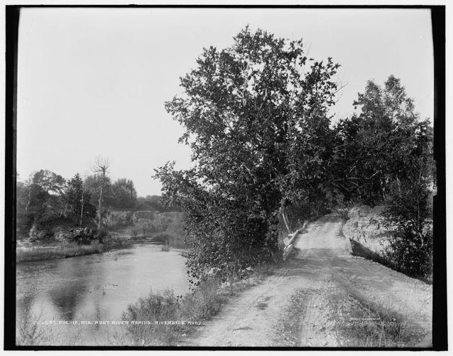Racine, Wis., Root River rapids, Riverside Road