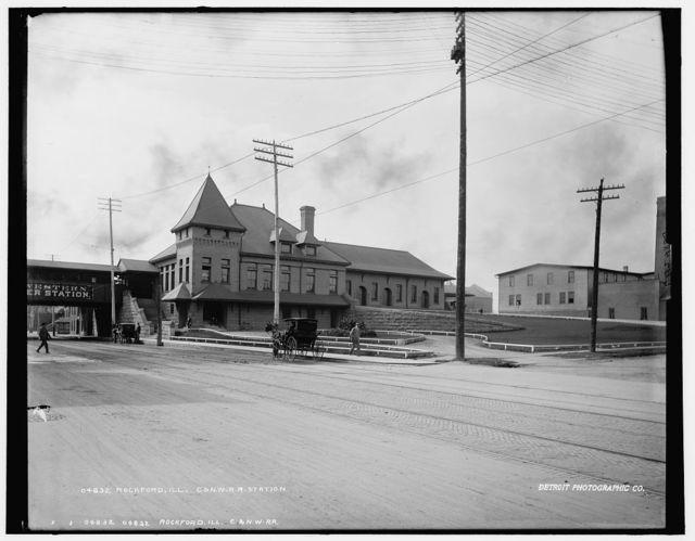 Rockford, Ill., C. & N.W. R.R. [Chicago and North Western Railway] station