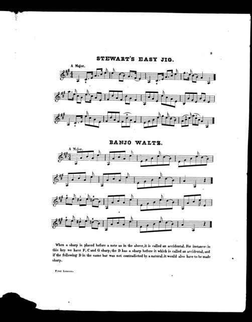 S. S. Stewart's first lessons for the banjo