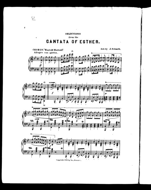 Selections from the Cantata of Esther