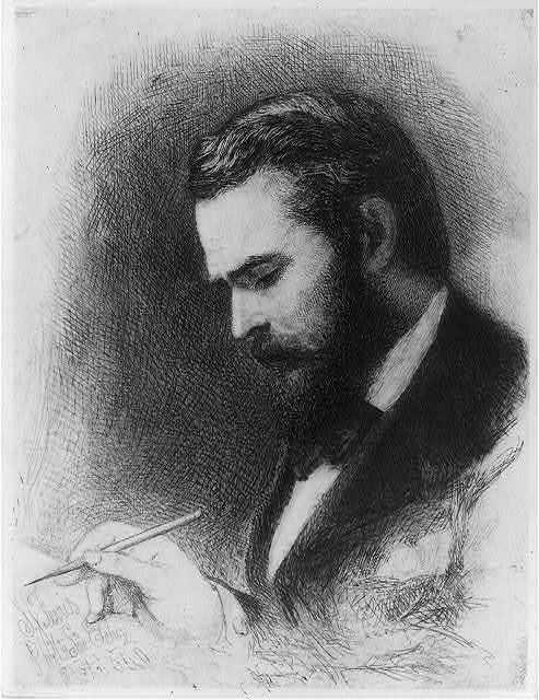 [Self-portrait] / S.J. Ferris Phila. Soc. Etching Oct. 1880.