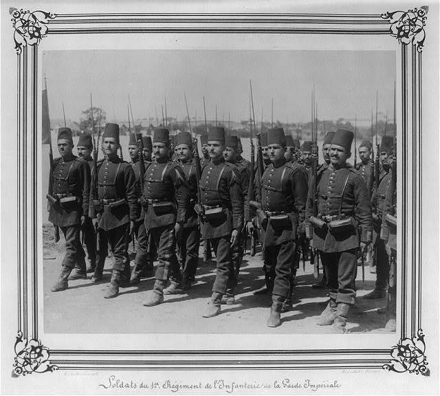 [Soldiers from the First Infantry Regiment of the Imperial Guard] / Abdullah Frères, Phot., Constantinople.