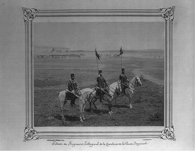 [Soldiers of the Ertuğrul Cavalry Regiment of the Imperial Guard] / Abdullah Frères, Phot., Constantinople.