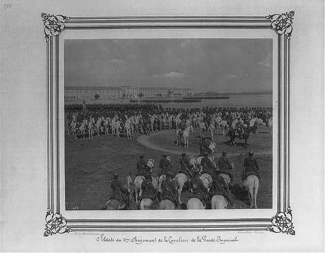 [Soldiers of the Second Cavalry Regiment of the Imperial Guard] / Constantinople, Abdullah Frères.