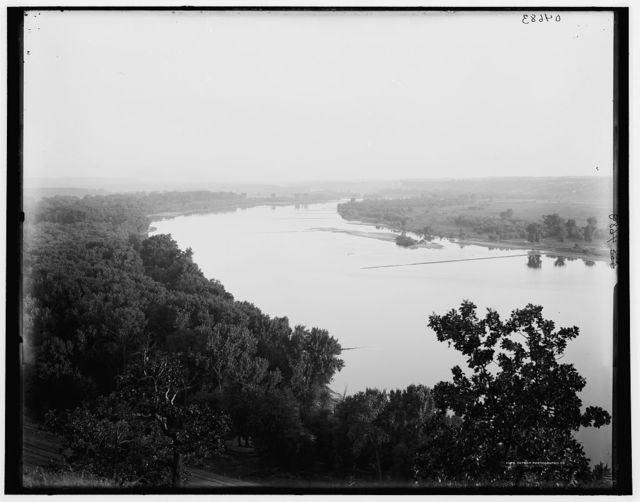 [St. Paul, Minn., the Mississippi from the Indian mounds]