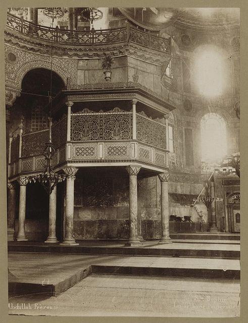 St. Sophie, La tribune impériale / Abdullah Frères.