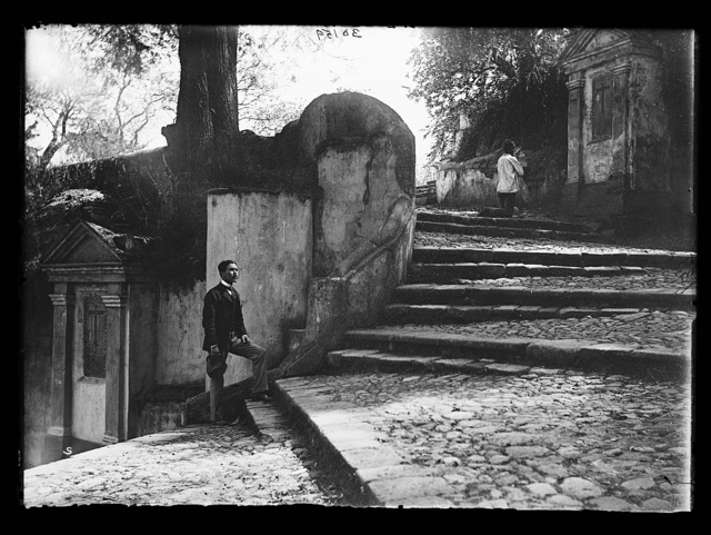 [Stairway and shrines of Sacro Monte, Amecameca, Mexico]
