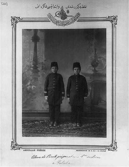 [Students, central middle and elementary schools, Galata] / Abdullah Frères, photographes de S.M.I. le Sultan.