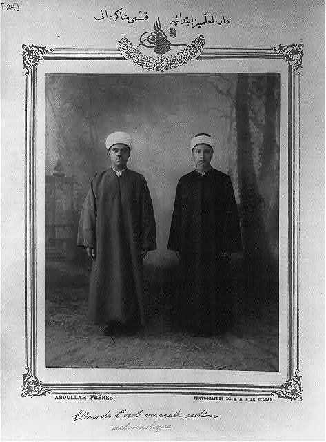 [Students, elementary teacher seminary] / Abdullah Frères, photographes de S.M.I. le Sultan.