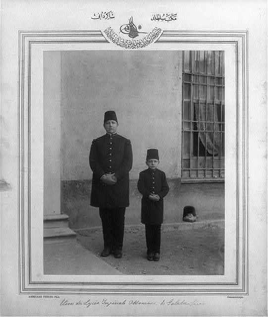 [Students of Mekteb-i Sultani] / Abdullah Frères, Phot., Constantinople.