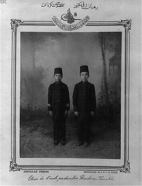[Students, private school, Burhan-i Terakki] / Abdullah Frères, photographes de S.M.I. le Sultan.