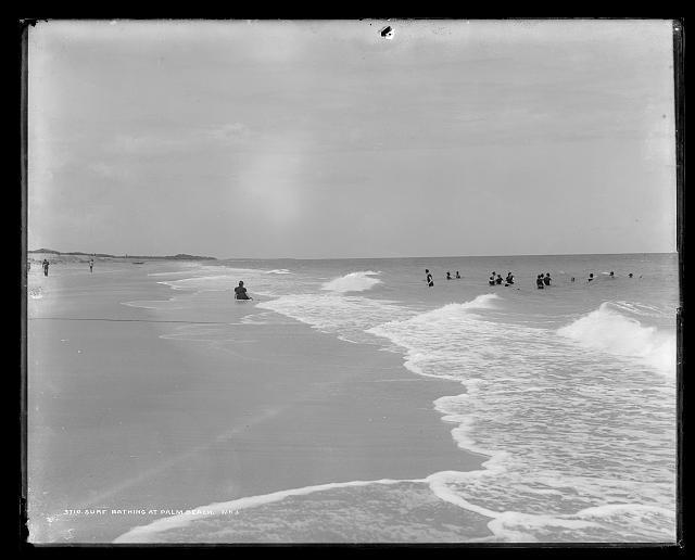 Surf bathing at Palm Beach