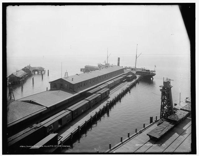 Tampa pier, the Olivette at her landing