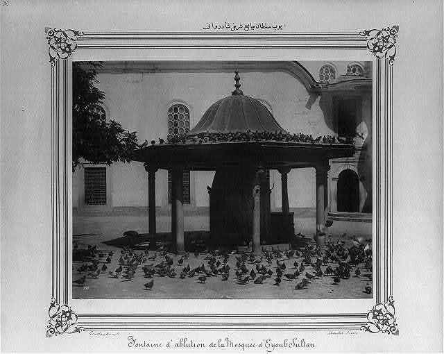 [The ablution fountain at the Eyüp Sultan Camii (mosque)] / Constantinople, Abdullah Frères.