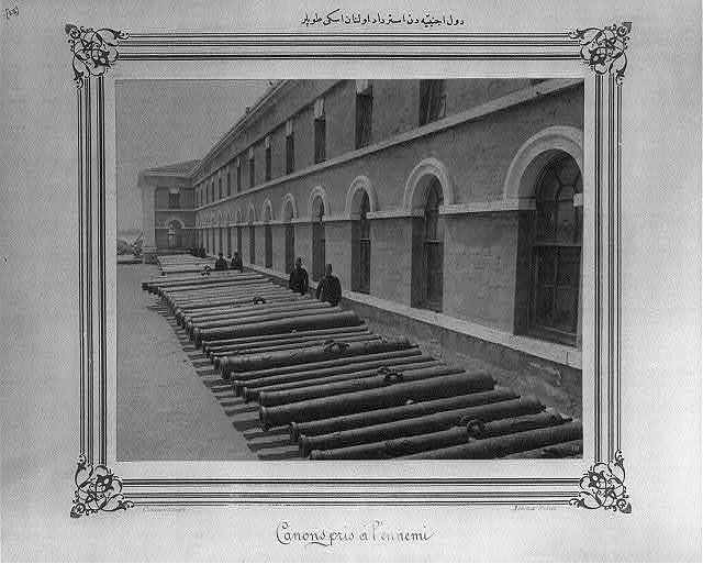 [The ancient cannons captured from foreign states] / Abdullah Frères, Constantinople.