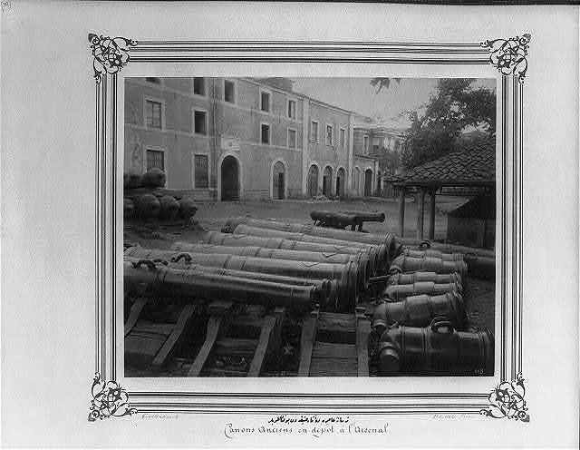 [The antique cannons exhibited at the Imperial Naval Arsenal] / Constantinople, Abdullah Frères.