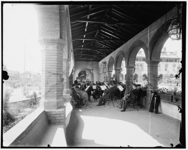 [The band in the loggia, St. Augustine]
