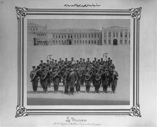 [The band of the First Mobile Artillery Bodyguard Brigade] / Constantinople, Abdullah Frères.