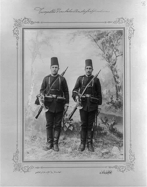 [The buglers of the military engineers] / the photograph studio of the Imperial School of Engineering.