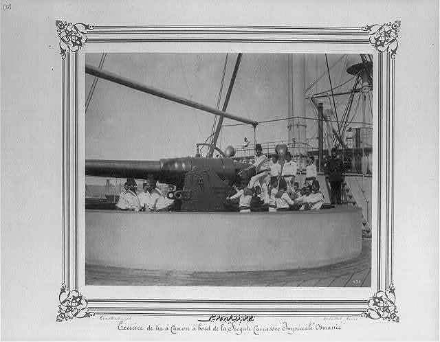 [The cannon drill on the Imperial Ironclad Frigate Osmaniye] / Constantinople, Abdullah Frères.