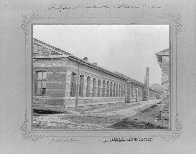[The cartridge factory at the imperial factory in Zeytinburnu] / the photograph studio of the Imperial School of Engineering.